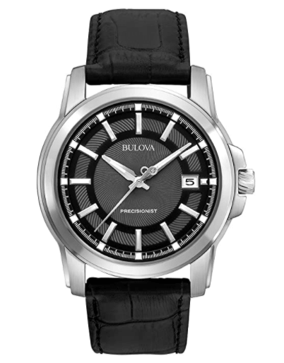 Bulova Men's with Leather Strap Watch